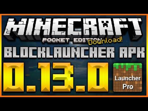★MINECRAFT POCKET EDITION 0.13.0 UPDATE - NEW 0.13.0 BLOCKLAUNCHER APK DOWNLOAD (TEXTURE SUPPORT)★