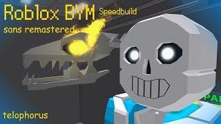 Roblox BYM: sans Remastered Speedbuild
