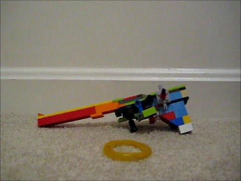 Mini Lego Semi Automatic Rubber Band Gun - YouTube