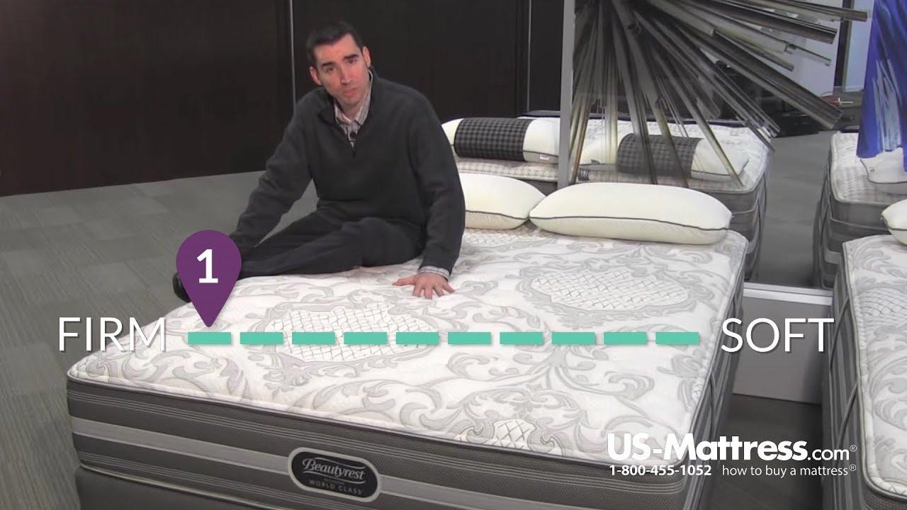 simmons beautyrest recharge world class ii extra firm mattress youtube