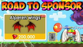 Road To Sponsor Item!! 4 *Alperen Wings* ( Almost Done ) | GrowTopia