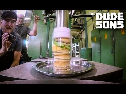Thumbnail: Ultimate Hamburger Challenge with Hydraulic Press Channel!