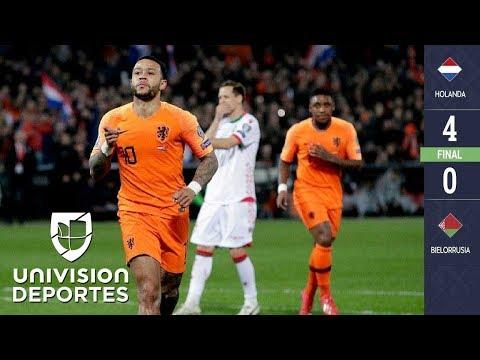 Holanda 4-0 Bielorrusia - GOLES Y RESUMEN - ELIMINATORIAS  - Eurocopa 2020