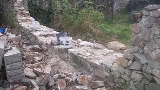 Oprava kamenné zdi Revnice