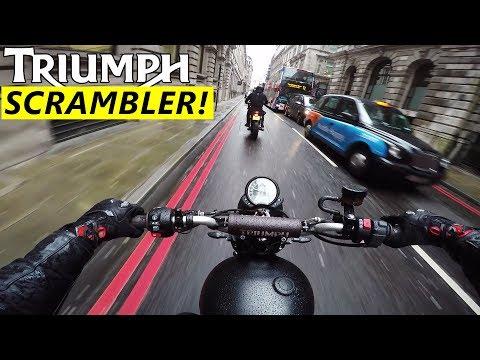 Test Riding A Triumph Scrambler In London!
