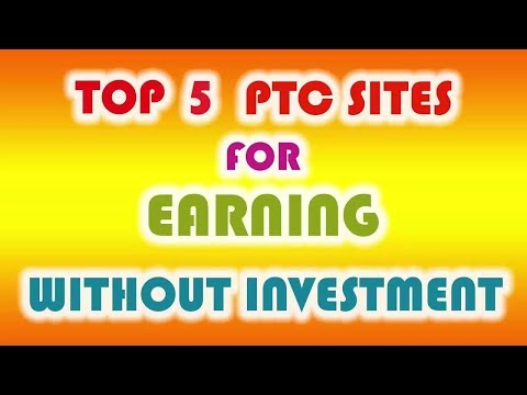 Earn Money $100 to $500 per month | top 5 ptc sites | genuine paying site no investment [hindi]