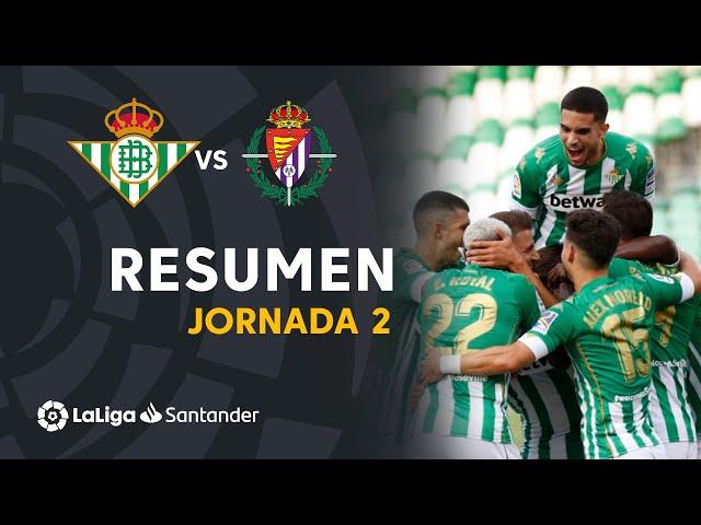 Resumen de Real Betis vs Real Valladolid (2-0)