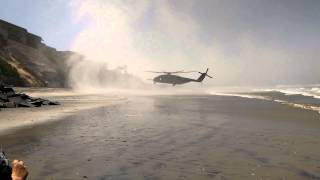 Marine's biggest helicopter makes emergency landing in the middle of a beach