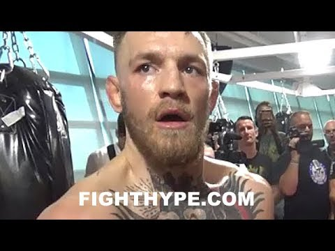 "Thumbnail: CONOR MCGREGOR CHECKS DAVID HAYE; RESPONDS TO VIDEOS MOCKING HIS ""RUBBER ARMS"" WARM UP"