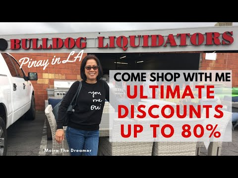 Come Shop With Me   Ultimate Discounts Up to 80% at Bulldog Liquidators   Pinay in LA