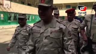 قائد المنطقة المركزية العسكرية يتفقد لجان الزمالك