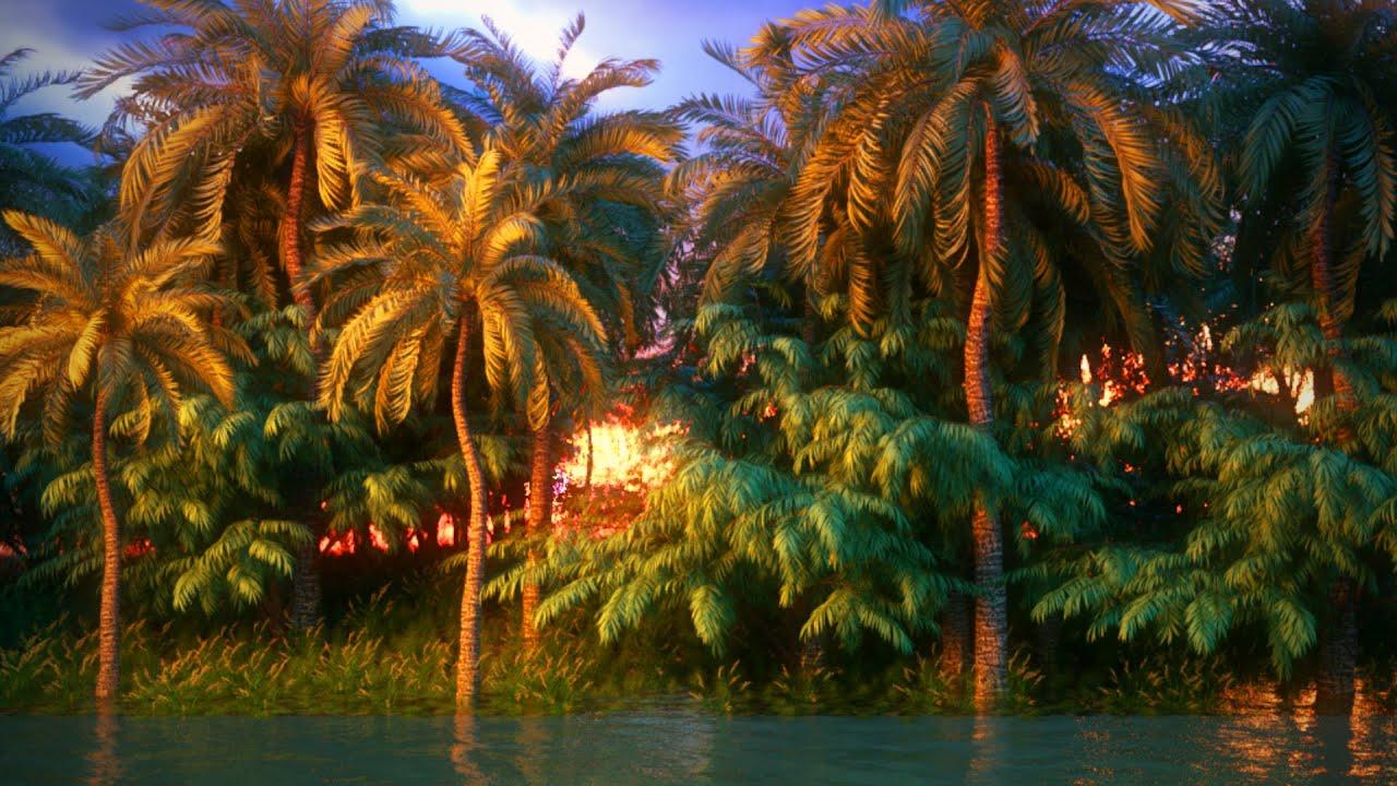 Palms island #cinema 4d #octane render Speed Art
