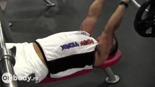 Упражнения на трицепс. Французский жим.(В видео разбирается правильная техника выполнения одного из самых популярных упражнений на трицепс - франц..., 2013-01-17T09:28:27.000Z)