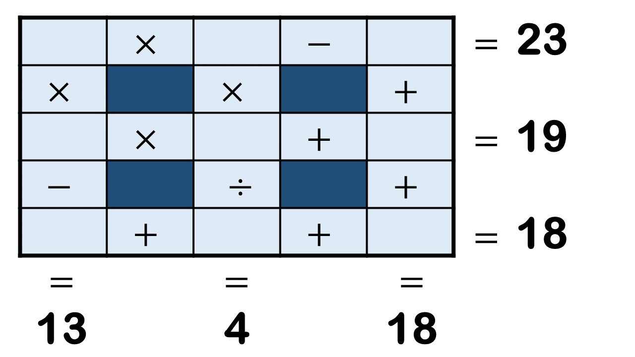Cross Math Puzzle with answer I Number puzzles I #112