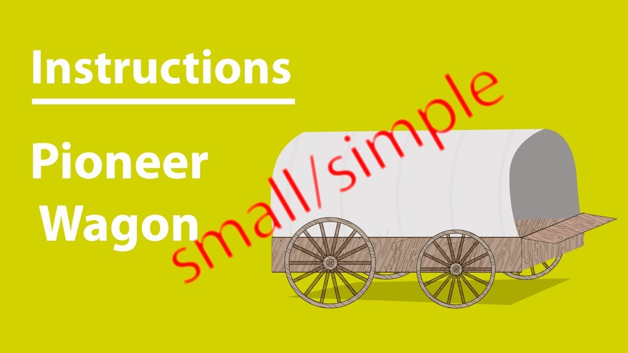 Small Simple Pioneer Wagon 3d Instructions Lds Paper Toys Youtube