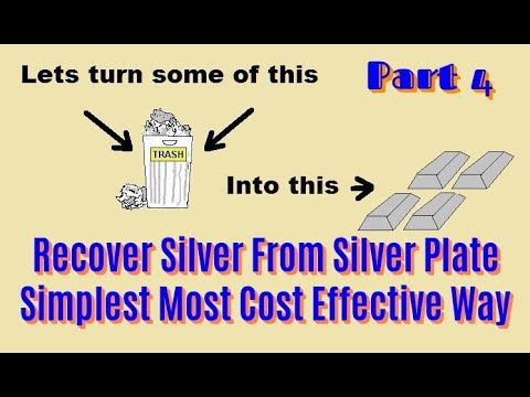 Silver From Silver Plate Simple Method