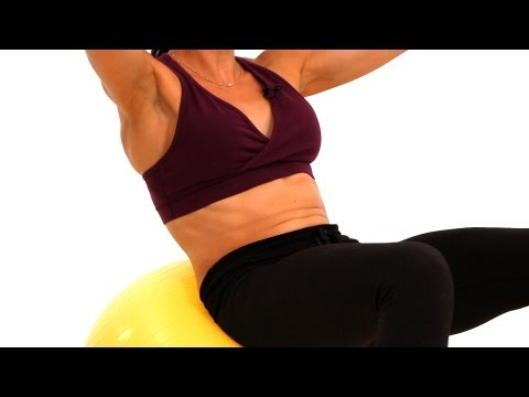How To Do Sit-Ups With A Stability Ball | Bosu Ball Workout