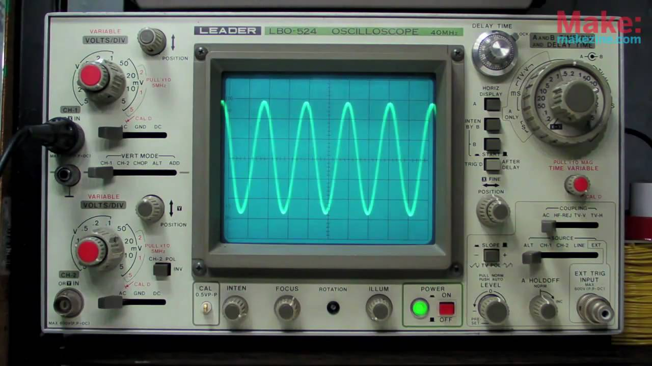 How to make an oscilloscope from the computer do it yourself 96