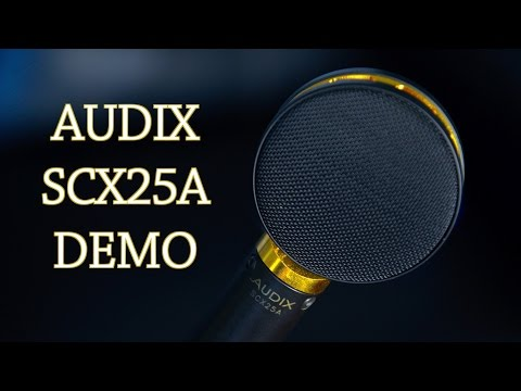Audix SCX25 Microphone Demo