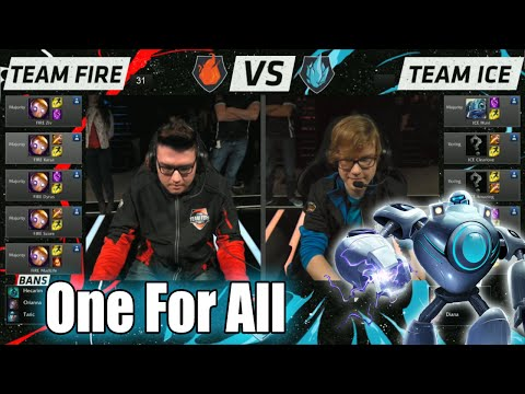 Team Ice vs Team Fire | One For All Mode Match LoL All-Stars 2015 LA | 10 Blitzcranks