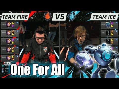 Team Ice vs Team Fire | One For All Mode Match LoL All-Stars 2015 LA | 10 Blitzcranks