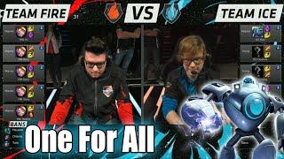 Team Ice vs Team Fire   One For All Mode Match LoL All-Stars 2015 LA   10 Blitzcranks