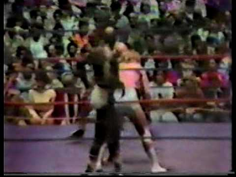 Fan jumps in the ring during Ricky Morton & Big Red vs. Tojo Yamamoto and Sonny King