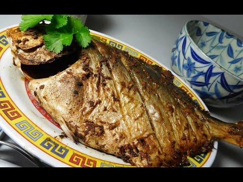 Ginger  Garlic Pompano Fish ( Pomfret Fish )
