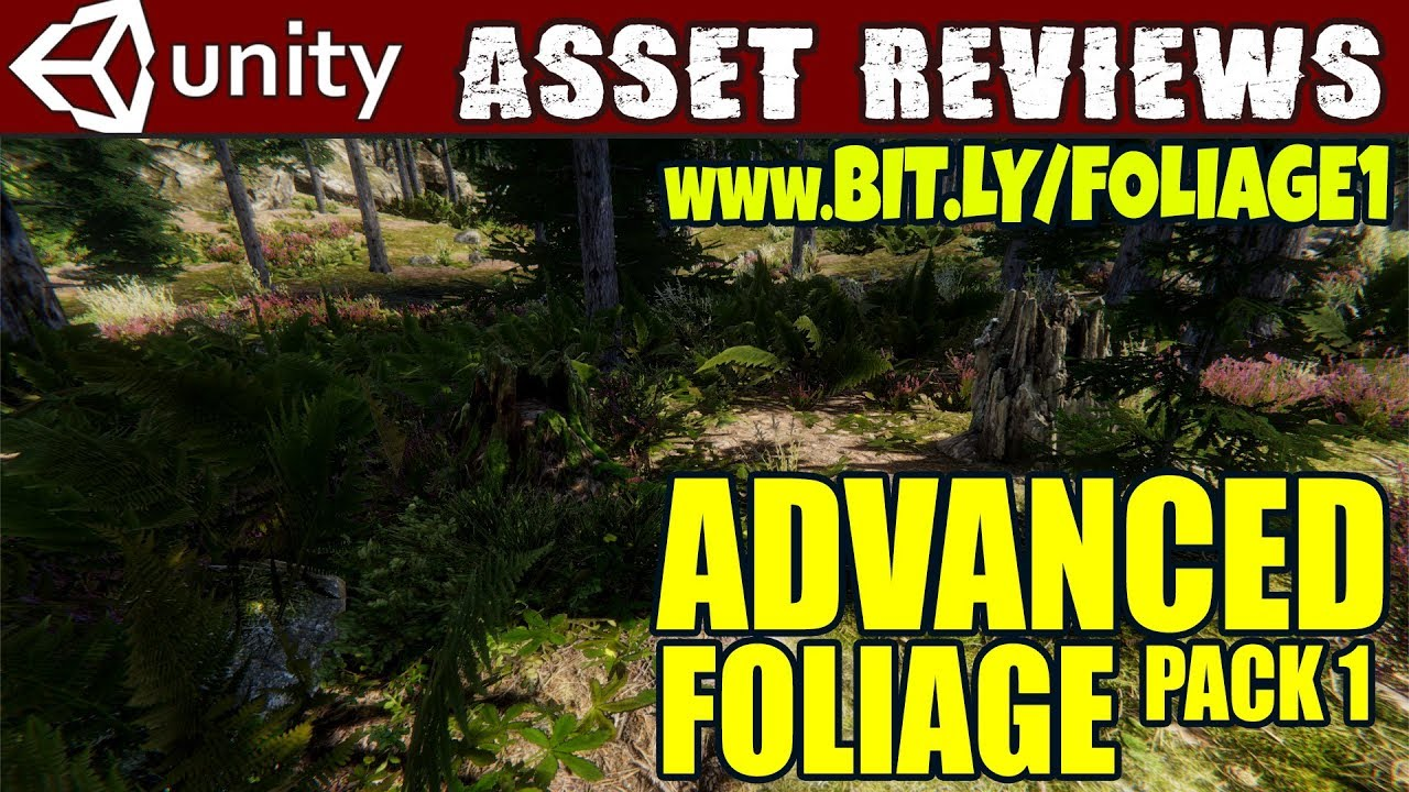 Unity Asset Reviews - Advanced Foliage Pack 1