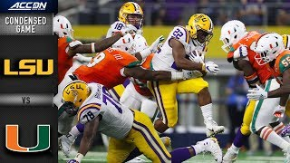 LSU vs. Miami Condensed Game | 2018 ACC Football