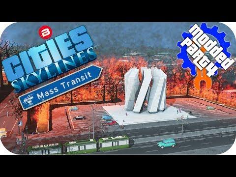 Cities Skylines Gameplay: BEACHFRONT HOT PROPERTY Cities: Skylines Mods MASS TRANSIT DLC Part 4