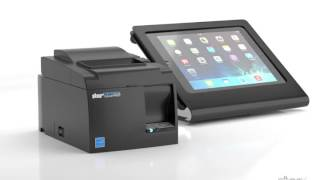 Connect the star tsp143iii usb receipt printer directly to an ipad. no wifi or blueooth is required. for more information please visit: www.cashregisterwareh...