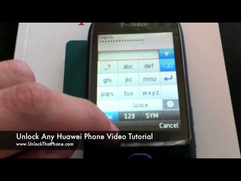 "How To Unlock Huawei Phone - Configure data & Enter code / Remove ""Input NCK Code"" message"