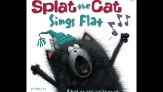 SPLAT THE CAT SINGS FLAT Read Along Aloud Story Book for Children Kids