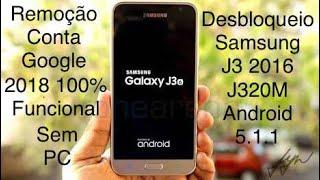 Desbloqueio de conta Google Samsung J3 2016 Destravar J320M Android 5.1.1 Sem PC!!!jynrya™