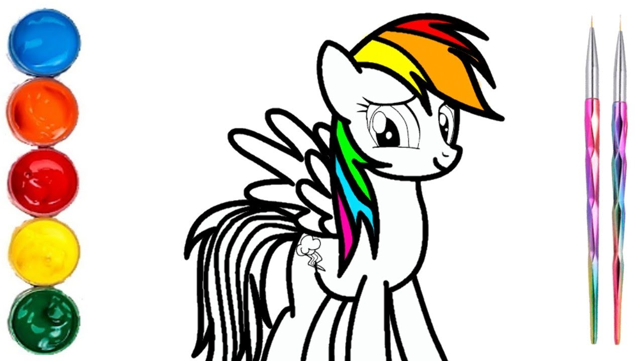Como Colorear O Pintar A Rainbow Dash Con Temperas Videos Para