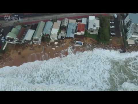 El oleaje australiano visto desde un drone