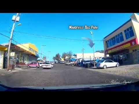 Driving on Decarteret Road to Mandeville Bus park - Jamaica