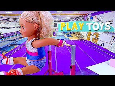 American Girl Baby Doll Gymnastics Toys Play! 🎀