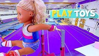 Play American Girl Doll Gymnastics Toys for Kids! 🎀