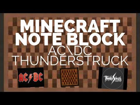 MINECRAFT NOTE BLOCK AC\DC THUNDERSTRUCK