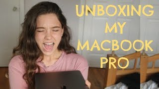 UNBOXING MY MACBOOK PRO 2017 // FIRST IMPRESSIONS // VIDEO EDITING LAPTOP