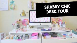 Shabby Chic Desk Tour