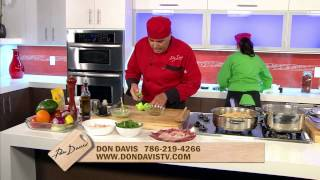 Cocinando con Don Davis en Mira TV. Sachimi Parte 4
