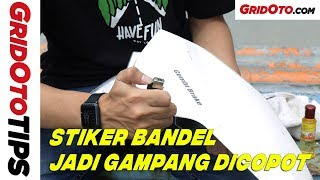 Cara Gampang Copot Sticker di Bodi Motor | How To | GridOto Tips