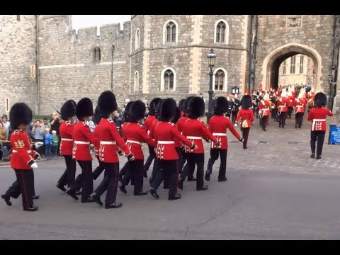 Changing the Guard at Windsor Castle - Saturday the 14th of October 2017