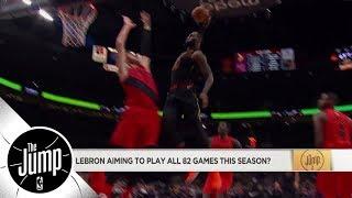Will LeBron James play all 82 regular season games? | The Jump | ESPN