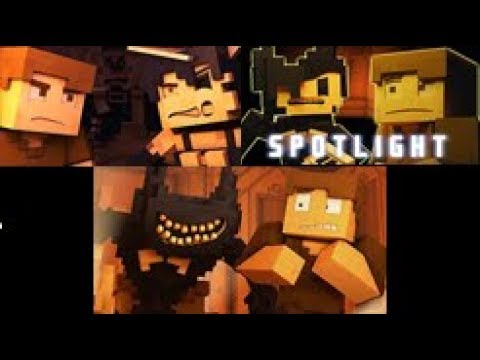 All Minecraft Animation Bendy And The Ink Mashine (1-3) With Clearer (AndyBTTF)