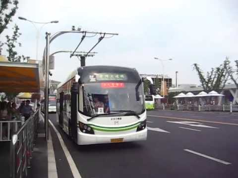 上海万博の電気バス Electric bus of the Shanghai Expo (2010.6)