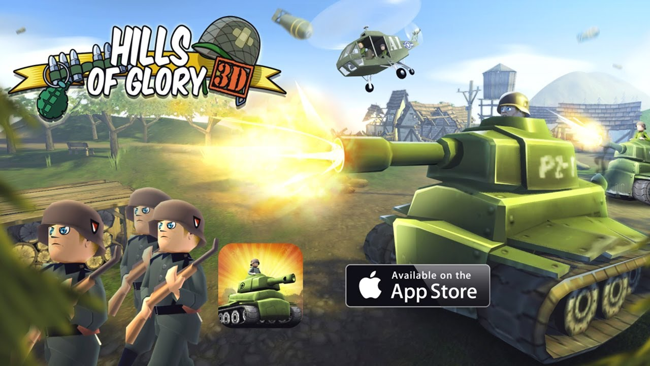 game strategi offline Hills of Glory 3D